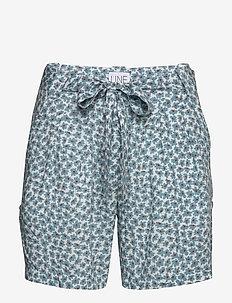 Carla print - casual shorts - blue