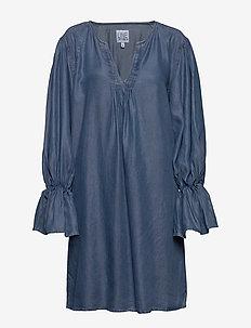 Paige tencel - jeansowe sukienki - blue
