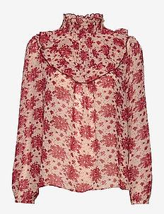 Riel flower - blouses met lange mouwen - pink