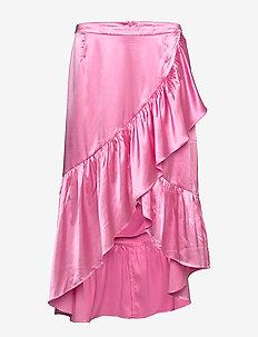Wendy satin - jupes midi - pink