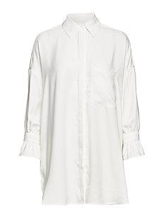 White Mona solid linen  Line of Oslo  Skjorter & bluser - Dameklær er billig