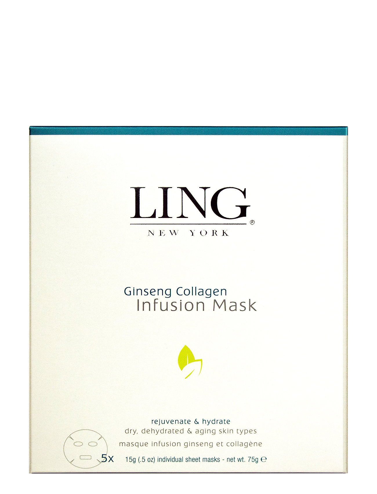 LING New York LG Gingseng Collagen Infusi Mask 5 sheet - NO COLOUR