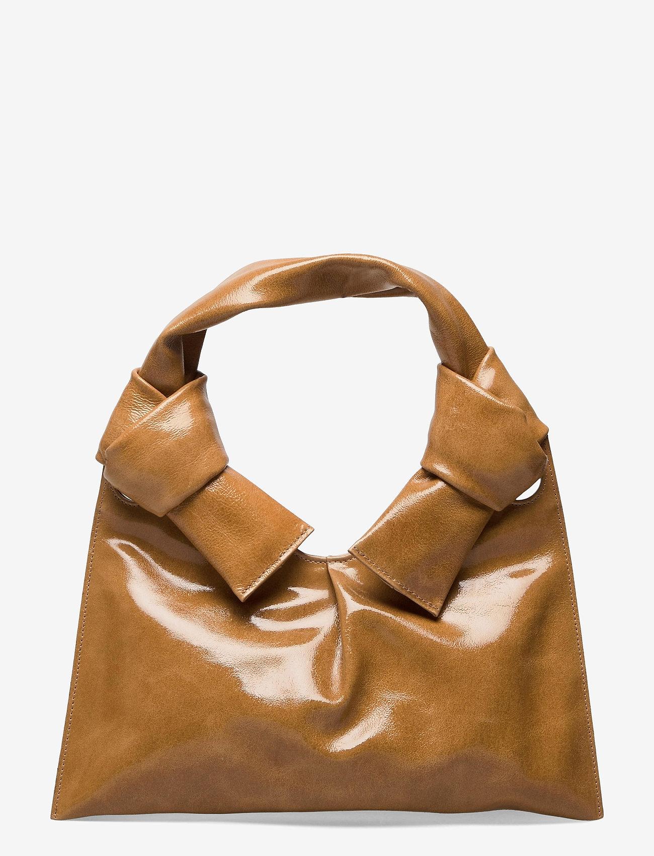 Little Liffner - KNOT EVENING BAG - väskor - tan - 0