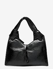 Little Liffner - KNOT EVENING BAG - väskor - glossy black - 1