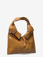 Little Liffner - KNOT EVENING BAG - väskor - tan - 2