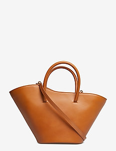OPEN TULIP TOTE SMALL - TAN