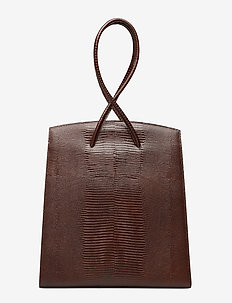 TWISTED TOTE - DARK BROWN