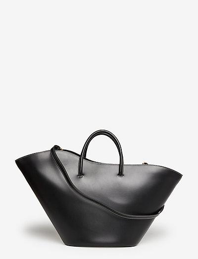 OPEN TULIP TOTE LARGE - shoppingväskor - black