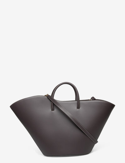 OPEN TULIP TOTE LARGE - shoppers - coal