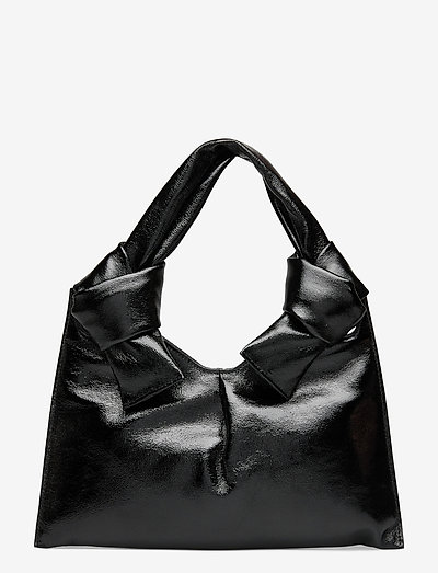 KNOT EVENING BAG - laukut - glossy black