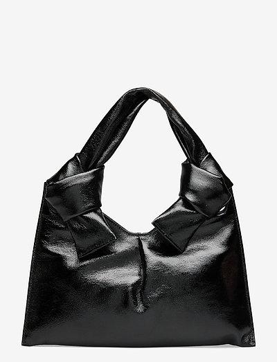 KNOT EVENING BAG - väskor - glossy black