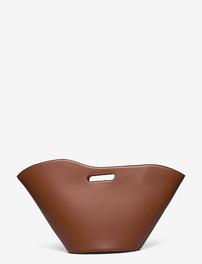 NO HANDLE TULIP TOTE - väskor - light brown