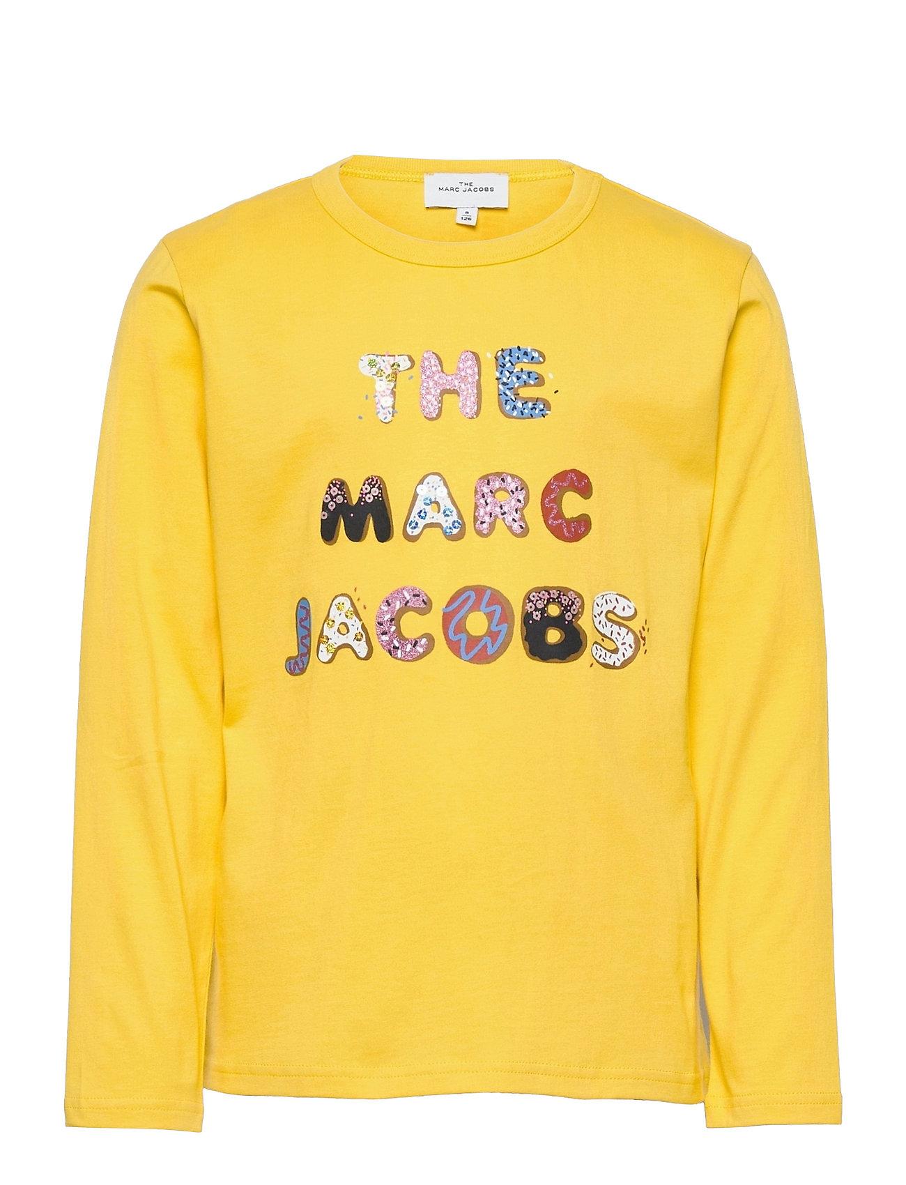 Long Sleeve T-Shirt Langærmet T-shirt Gul Little Marc Jacobs