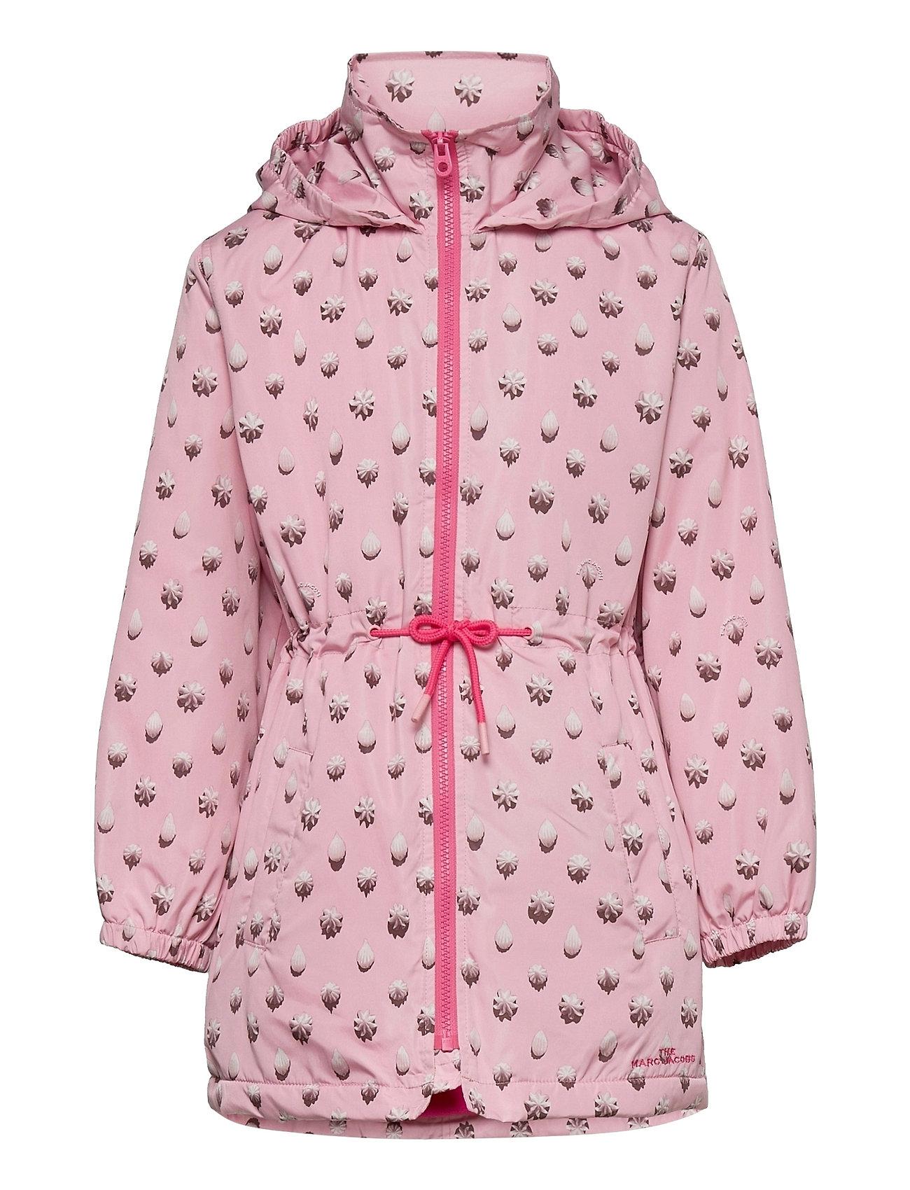 Hooded Windbreaker Outerwear Jackets & Coats Windbreaker Lyserød Little Marc Jacobs