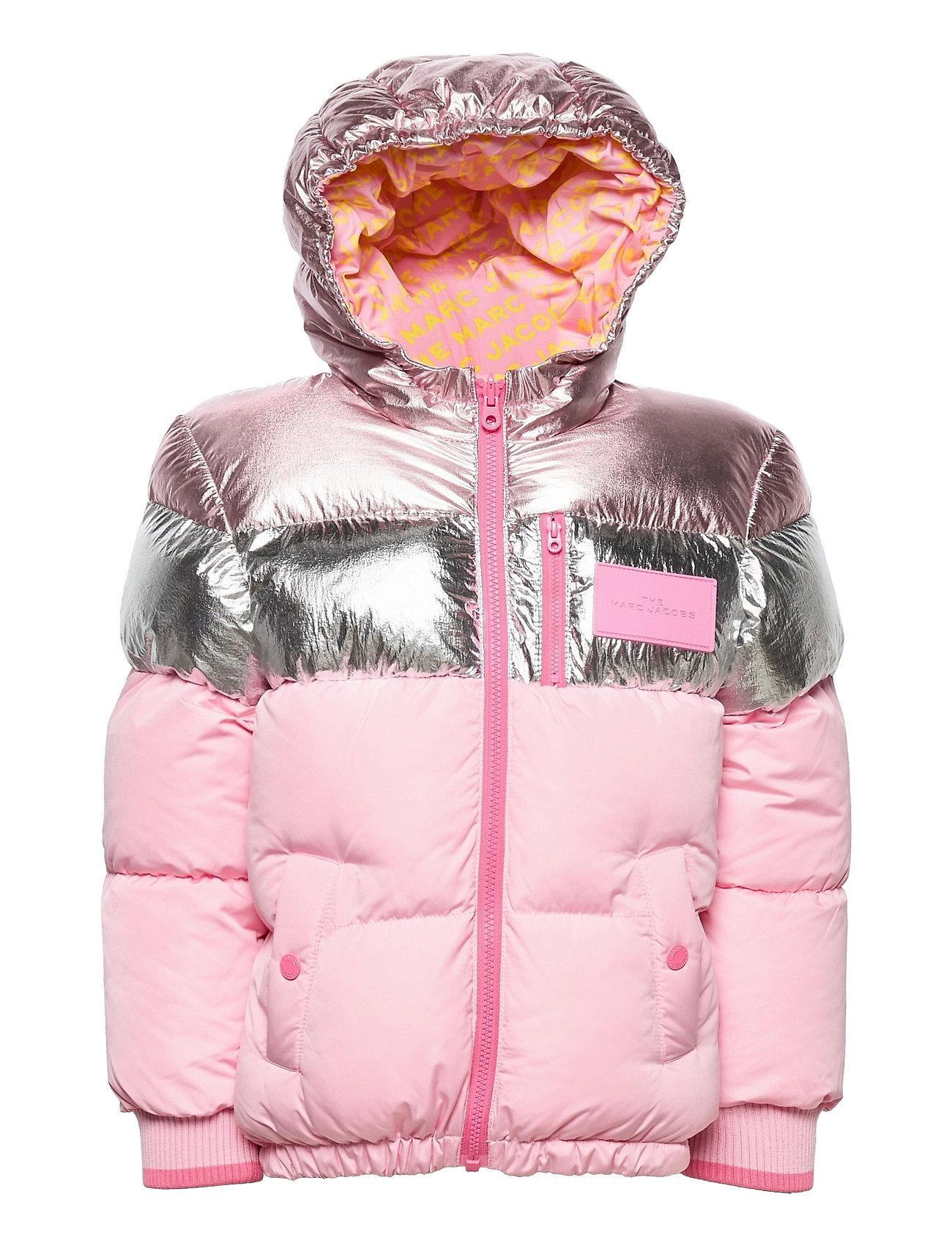 Reversible Puffer Jacket Foret Jakke Lyserød Little Marc Jacobs