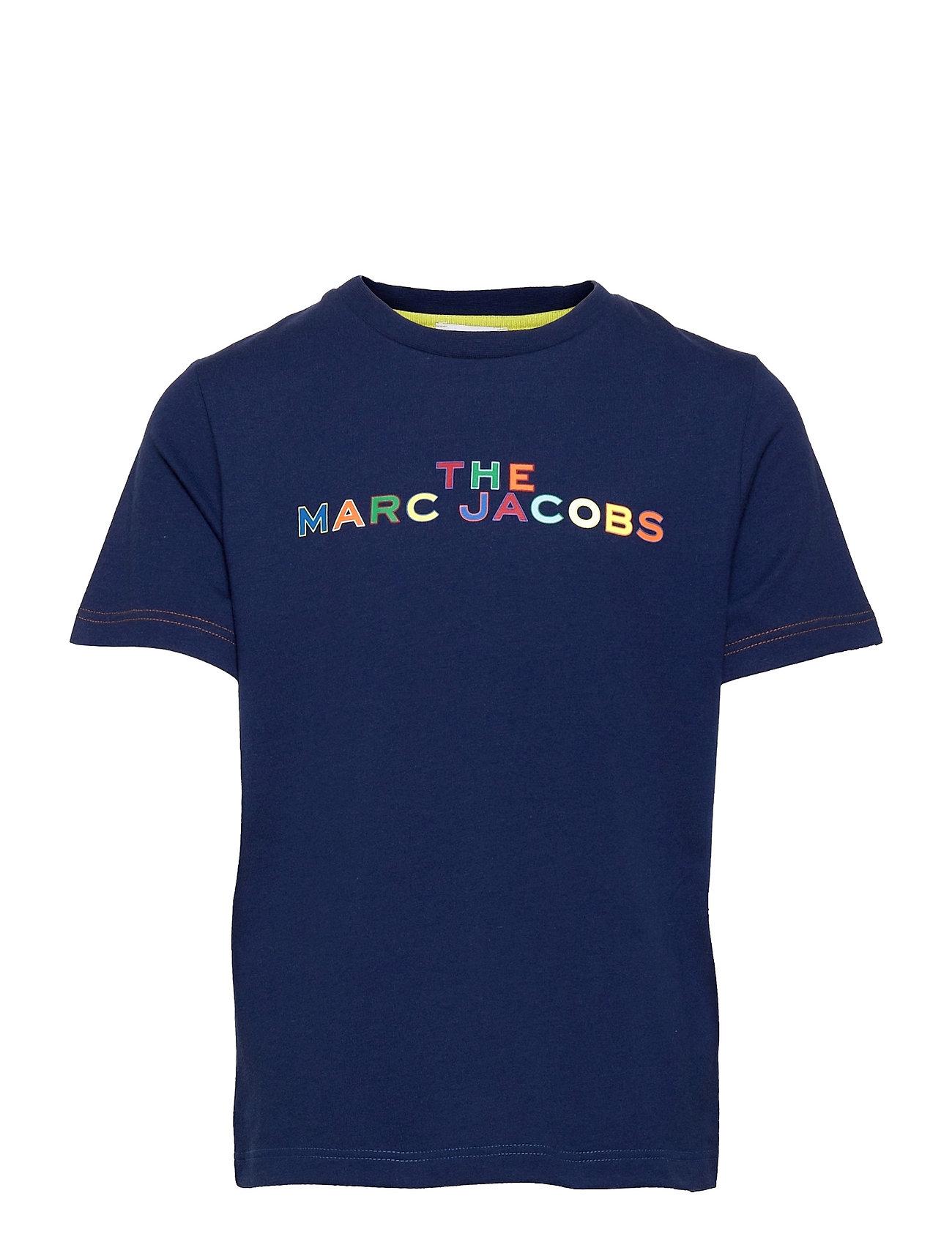 Short Sleeves Tee-Shirt T-shirt Blå Little Marc Jacobs