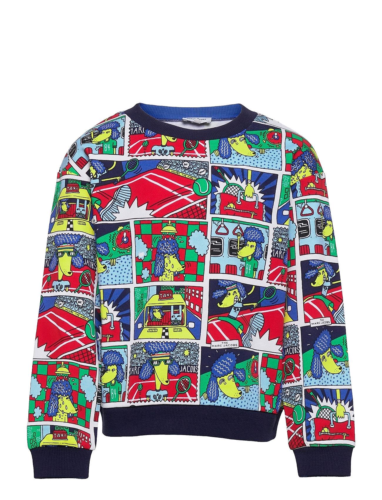 Sweatshirt Sweatshirt Trøje Multi/mønstret Little Marc Jacobs