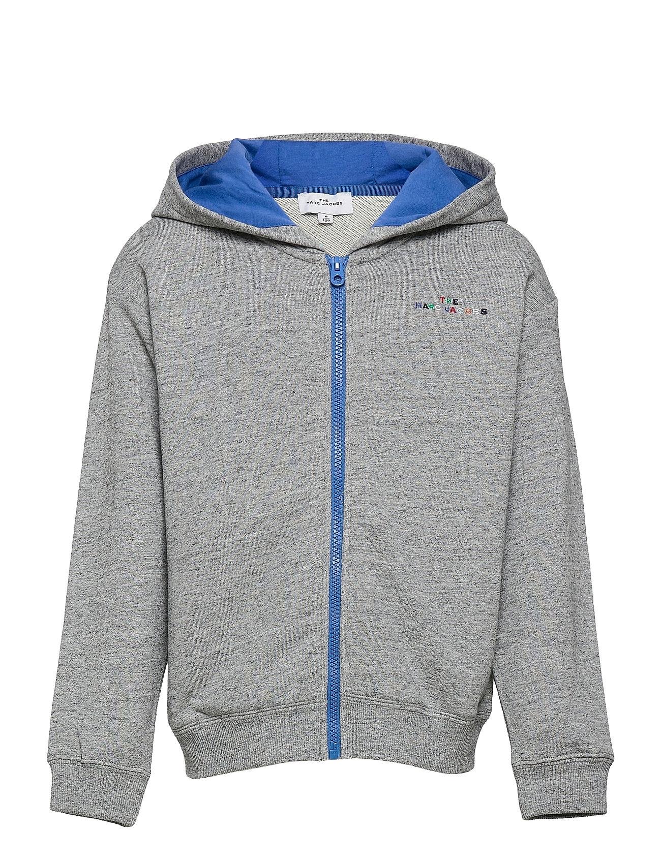 Hooded Cardigan Hoodie Trøje Blå Little Marc Jacobs