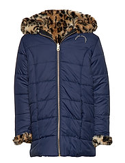 REVERSIBLE PUFFER JACKET - NAVY  STONE