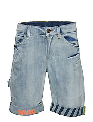 DENIM BERMUDA SHORTS - BLEACH