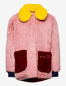 COAT - fausse fourrure - red  pink