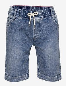 DENIM BERMUDA SHORTS - shorts - bleach