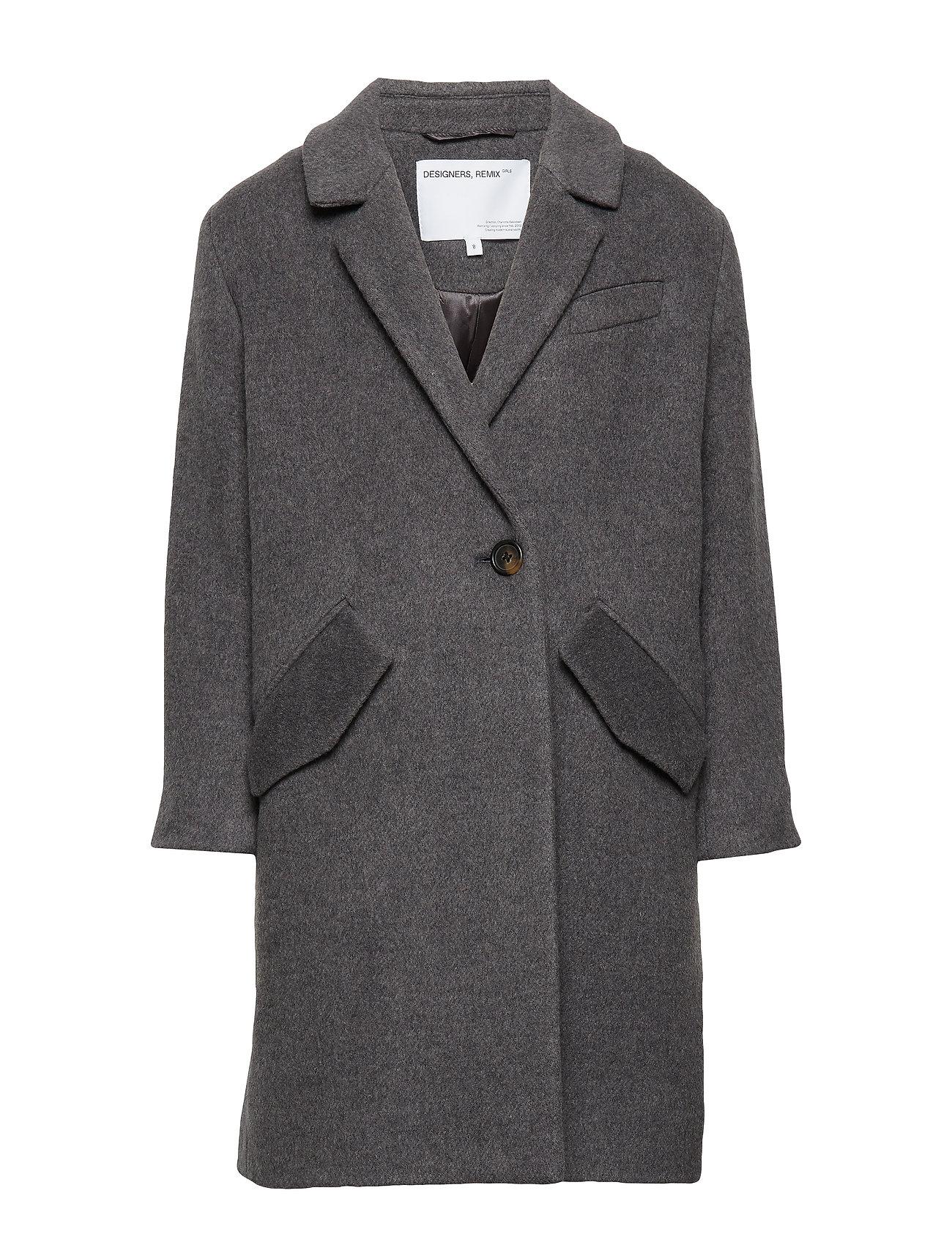 Image of Lr Hardy Coat Outerwear Wool Outerwear Grå Designers Remix Girls (3210822447)