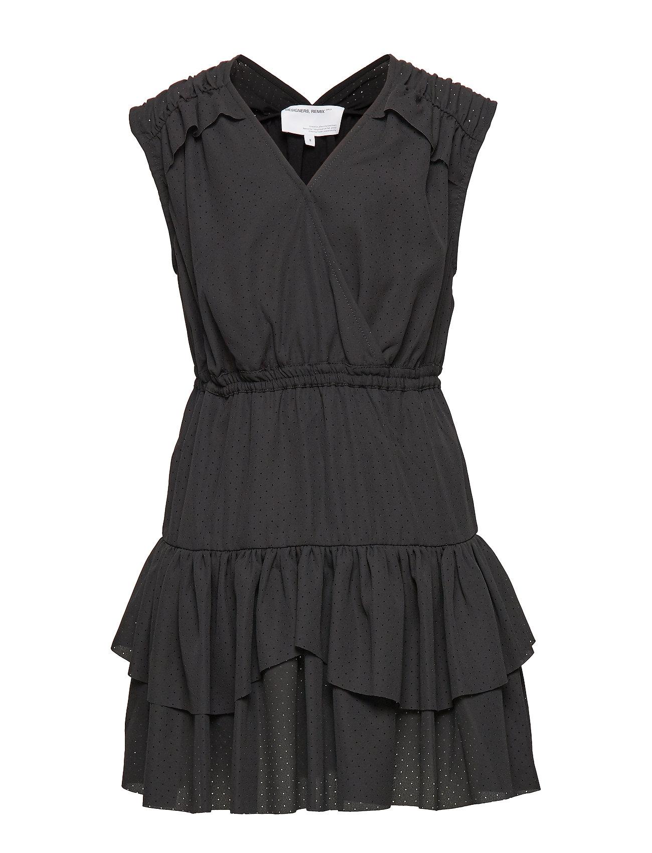 Designers Remix Girls LR Byron Ruffle Dress - BLACK