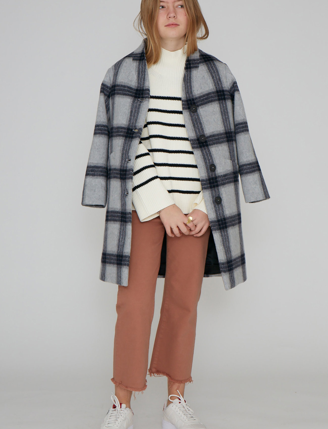 Designers Remix Girls - G Amara Coat - ull-klær - check - 0