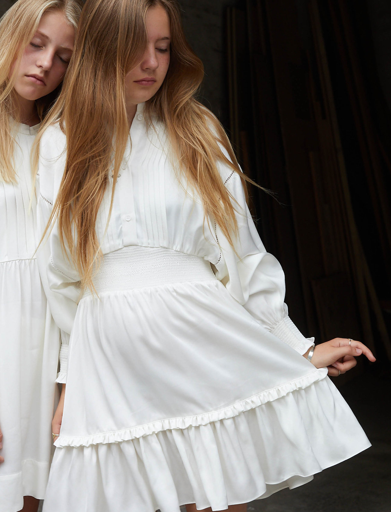 Designers Remix Girls - G Emme Sleeve Dress - kjoler - cream - 0