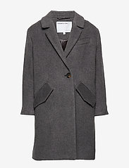 Designers Remix Girls - LR Hardy Coat - uldtøj - dark grey melange - 1