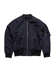 Jr Liana Lace-up Bomber - NAVY