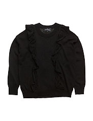 Jr Aza Ruffle Sweater - BLACK