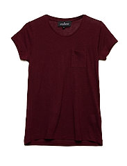LR New Blos Tee - BURGUNDY
