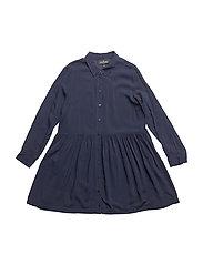LR Rion Dot Shirtdress - NAVY
