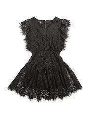 LR Jemima Ruffle Dress - BLACK