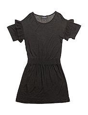 LR New Blos Ruffle Dress - BLACK