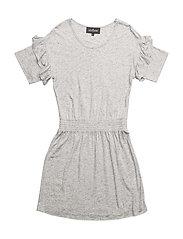 LR New Blos Ruffle Dress - LIGHT GREY MELANGE