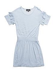 LR New Blos Ruffle Dress - PASTEL BLUE