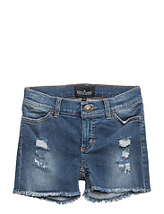 LR Blue Moon Destroyed Shorts - MEDIUM DENIM