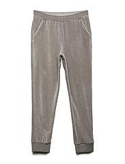 Velour jersey pants - GREY