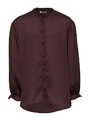LR Elda Ruffle Shirt - ROUGE NOIR