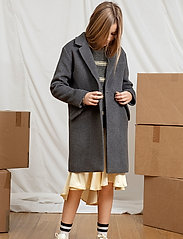 Designers Remix Girls - LR Hardy Coat - uldtøj - dark grey melange - 0