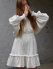 Designers Remix Girls - G Emme Sleeve Dress - kjoler - cream - 4