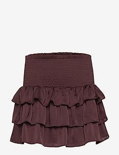 LR Elda Ruffle Skirt - ROUGE NOIR