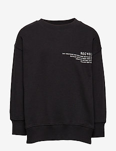 LR Logan Text Sweat - BLACK