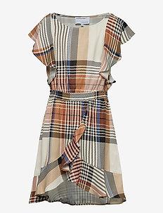 LR Frigg Wrap Dress - CHECK