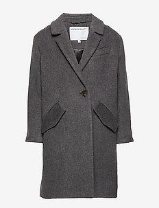 LR Hardy Coat - ull-klær - dark grey melange