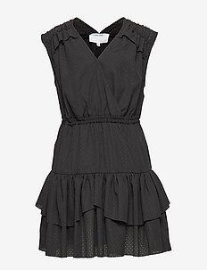 LR Byron Ruffle Dress - BLACK