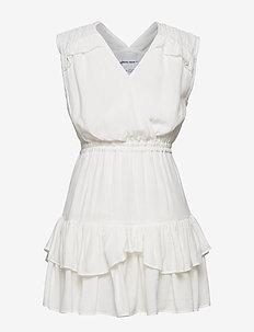 G Eliza Ruffle Dress - kjoler - cream